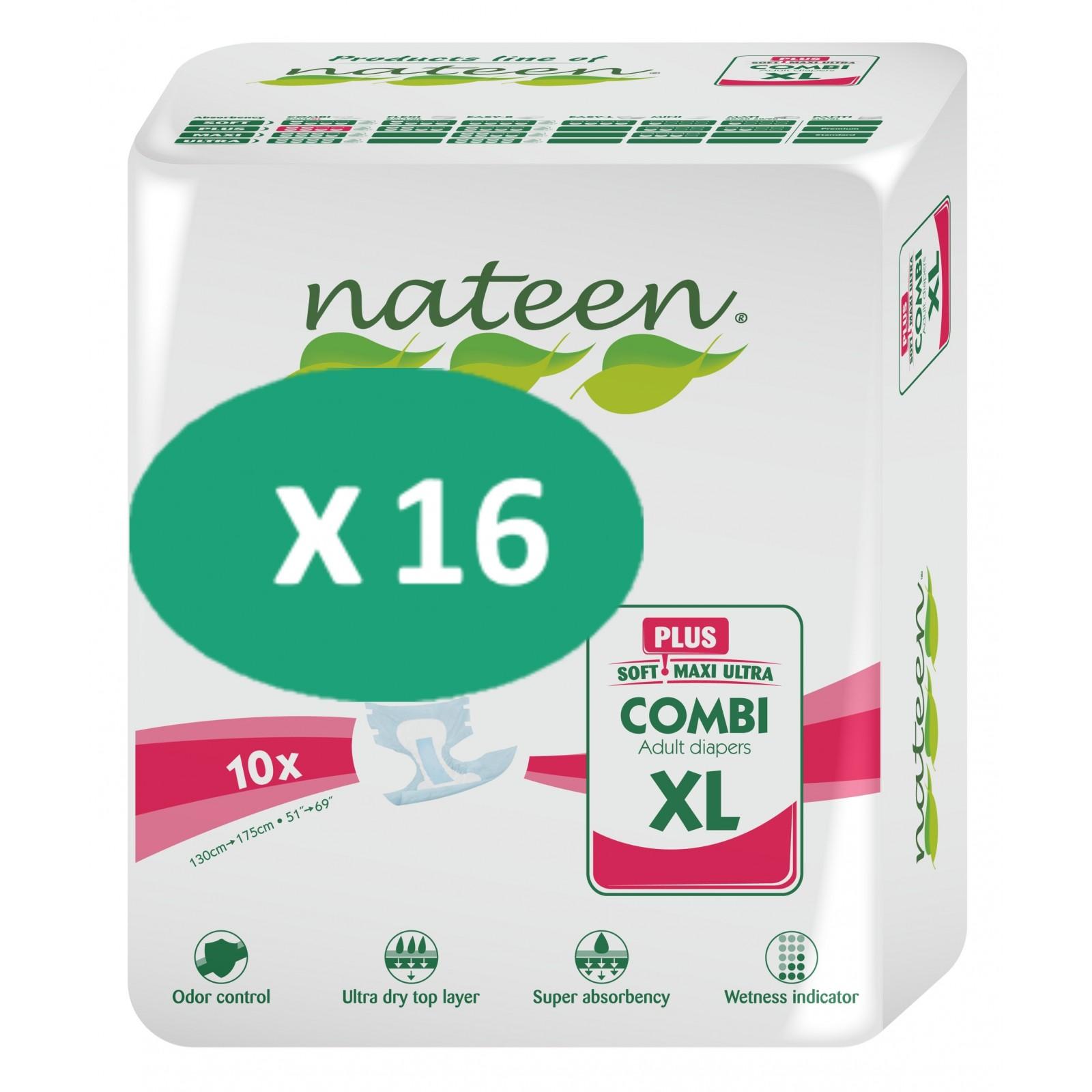 16 paquets de Nateen Combi Plus XL| SenUp.com