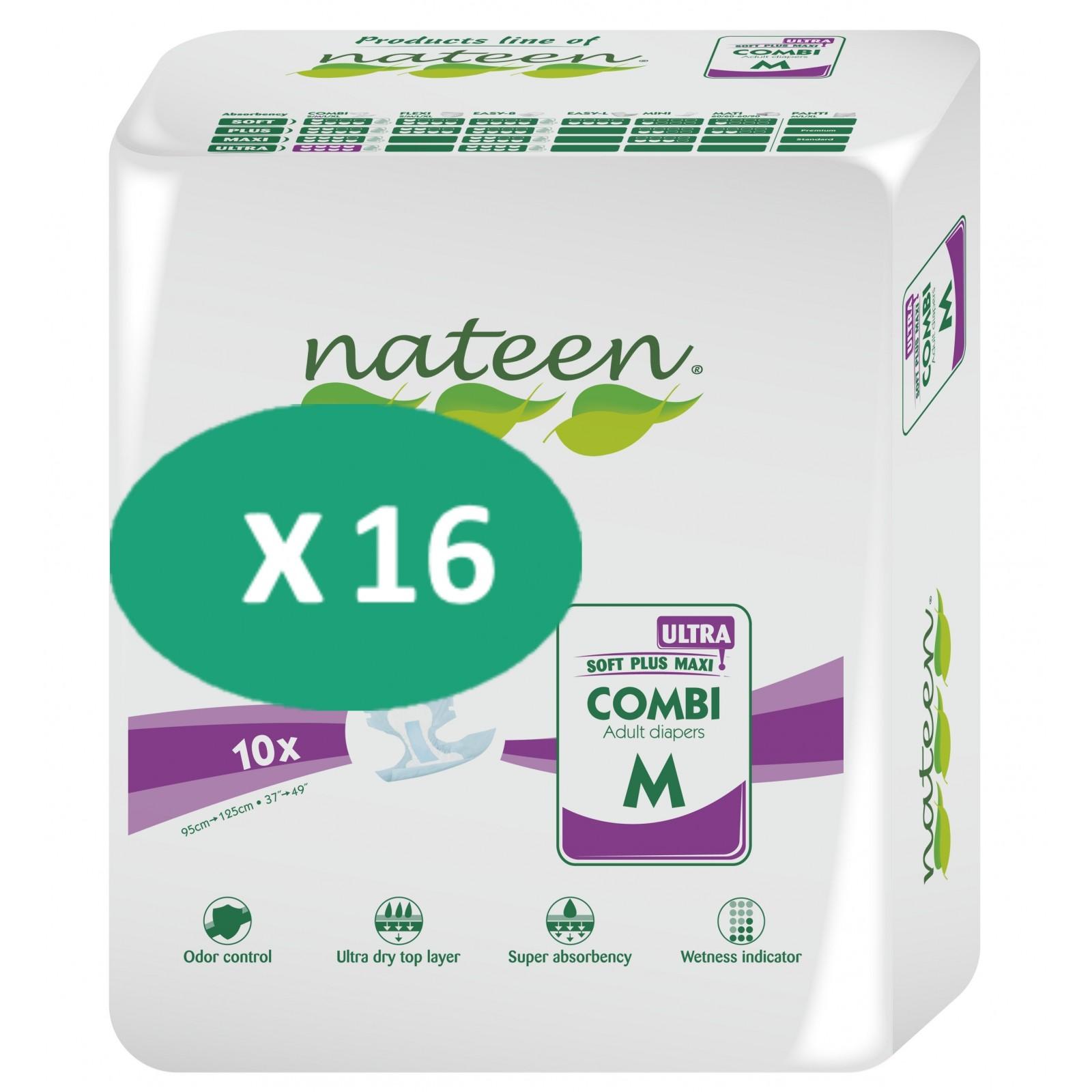 16 paquets de Nateen Combi Ultra Medium  SenUp.com