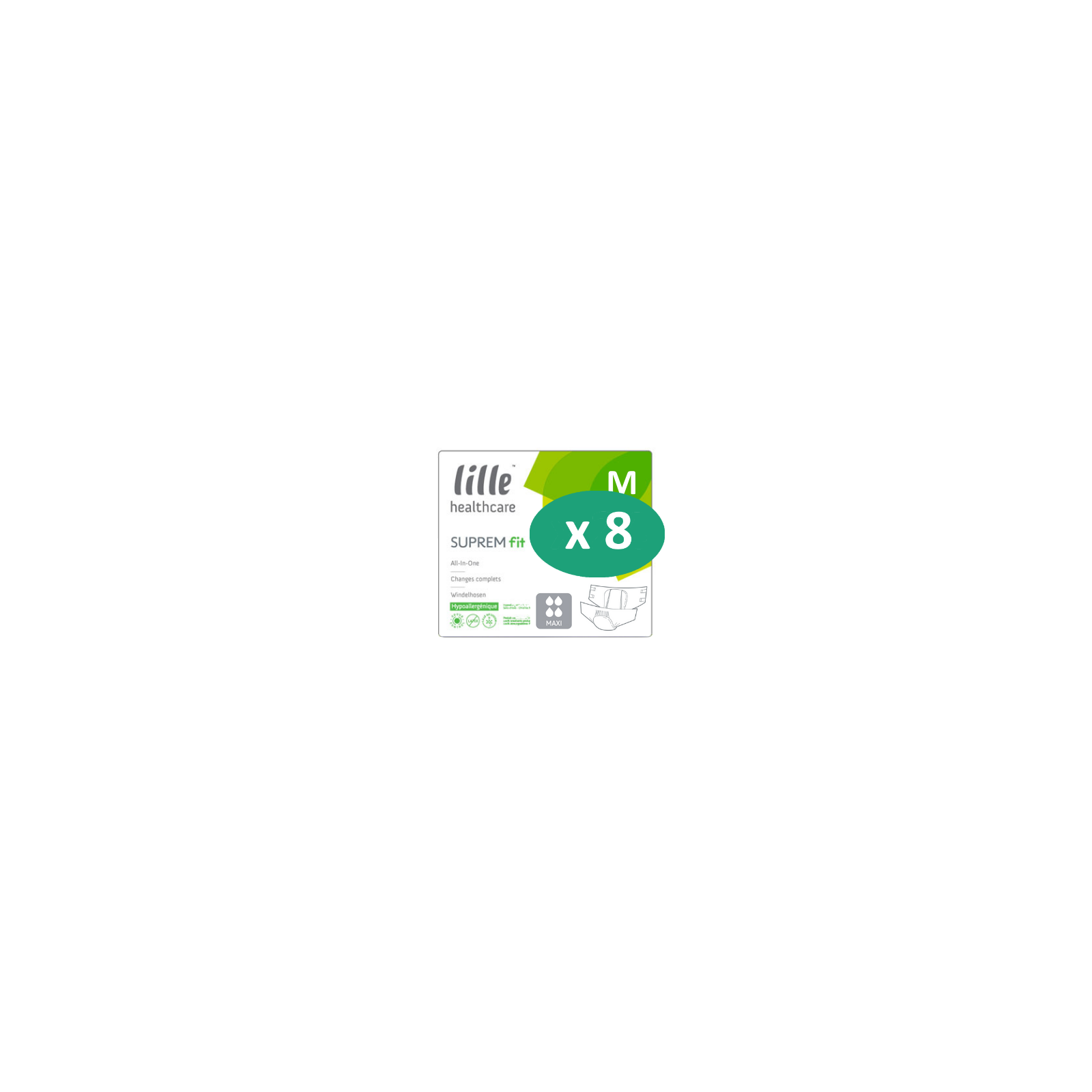 8 paquets de Lille Suprem Fit Maxi Medium| SenUp.com