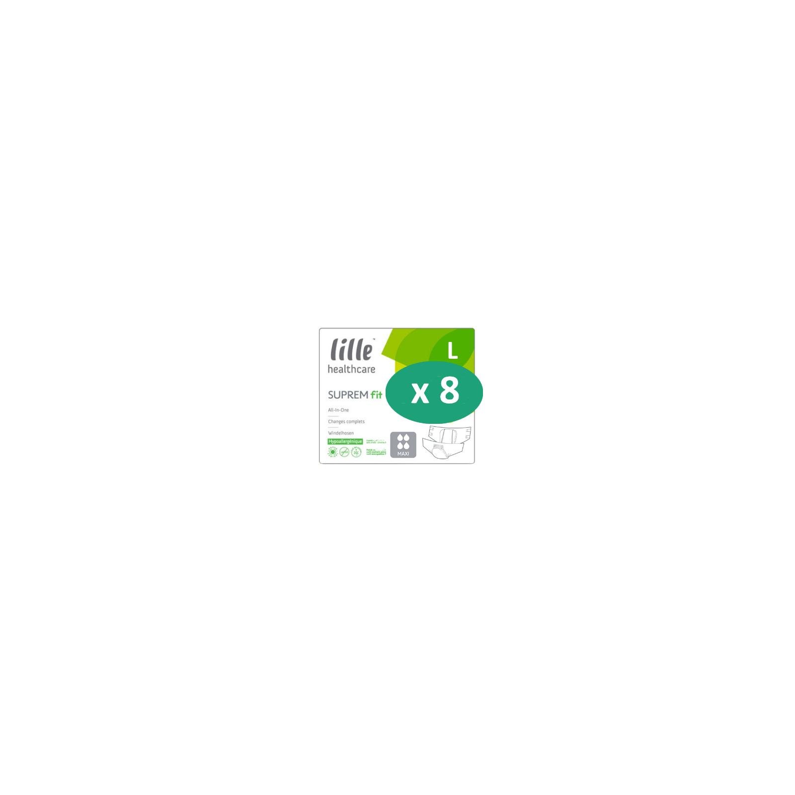 8 paquets de Lille Suprem Fit Maxi Large| SenUp.com